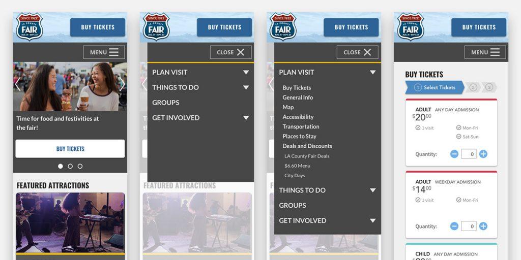 Mobile screenshots