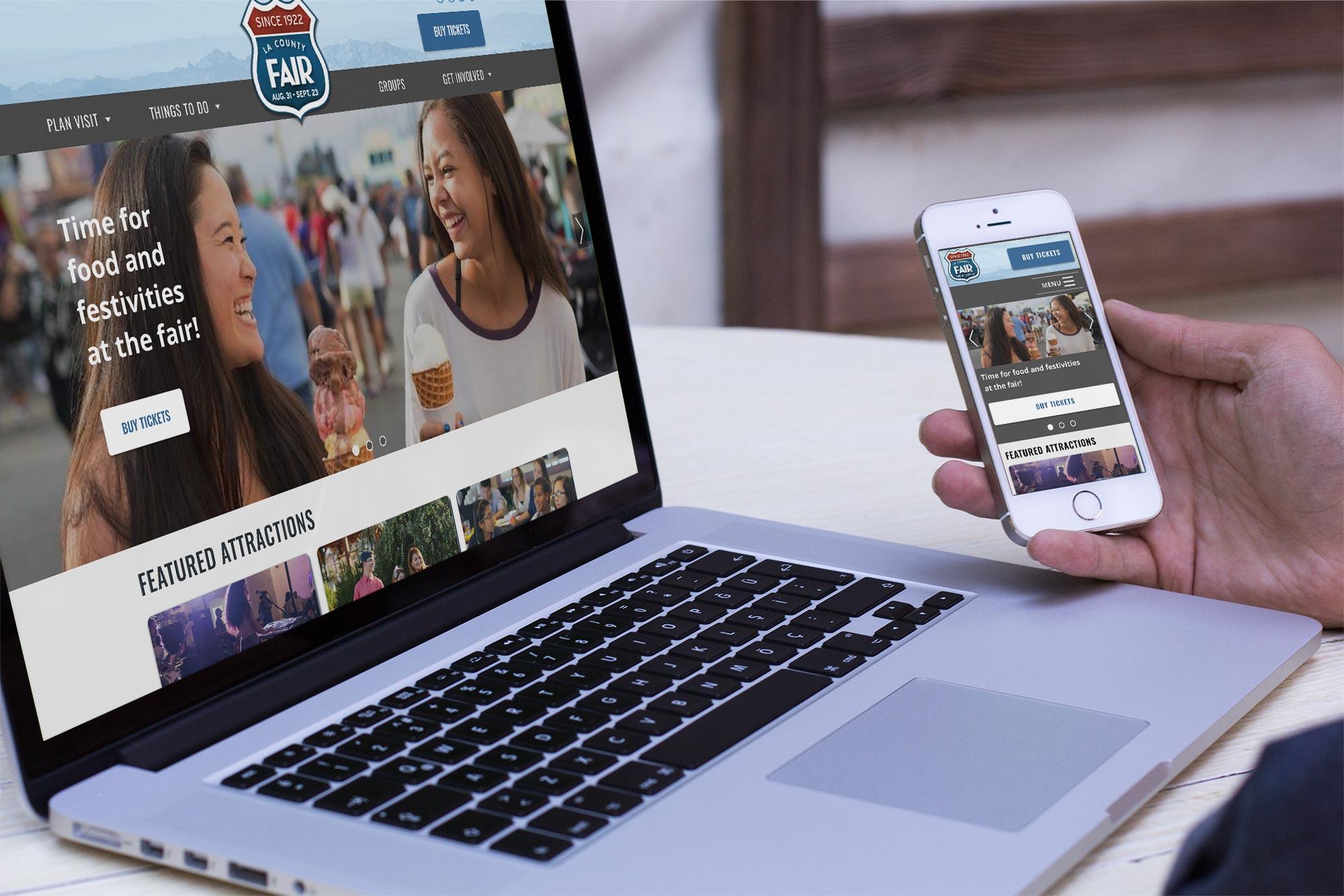 Mockup desktop mobile