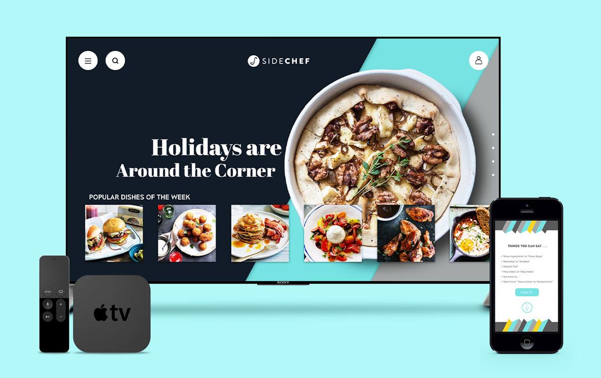 SideChef AppleTV mobile mockup