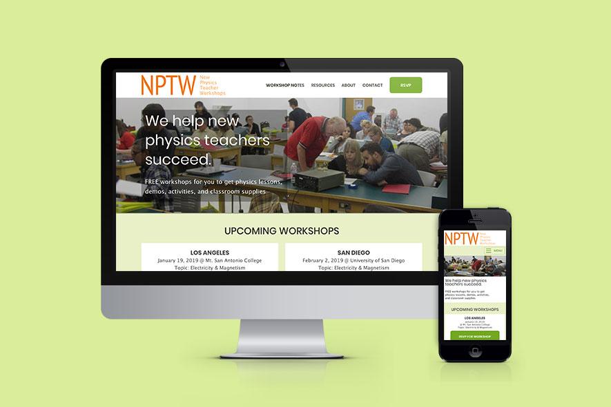 NPTW responsive mockup