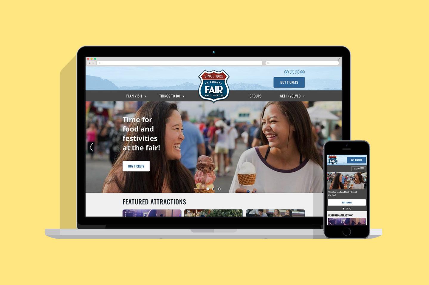LA County Fair desktop mobile mockup